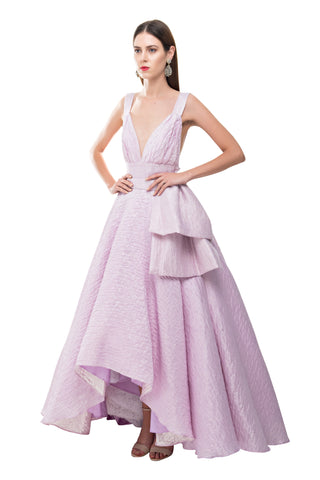 Magnolia Backless Bow Gown