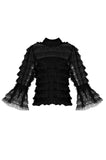 Black Lace Victorian Blouse