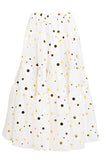 Gold Polka Peasant Skirt