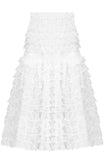 White Victorian Lace Midi Skirt