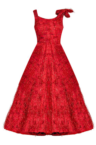 Red Violeta Midi Gown