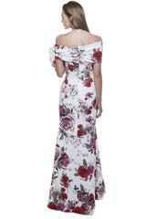 Diana Side Bow Fish Tail Gown