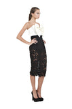 Black Lace Crochet Pencil Skirt
