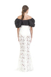 White Lace Crochet Fish Tail Skirt