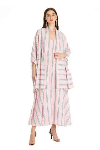 PINK STRIPED MIKA KAFTAN