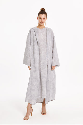 Gray Floral Marrakesh Kaftan