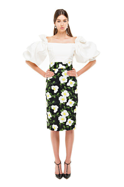 Benny Black Pencil Skirt