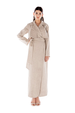 SPARKLE LINEN TRENCH DRESS