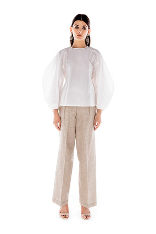 SPARKLE LINEN WIDE PANTS