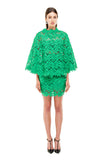 Green Lace Crochet Cape