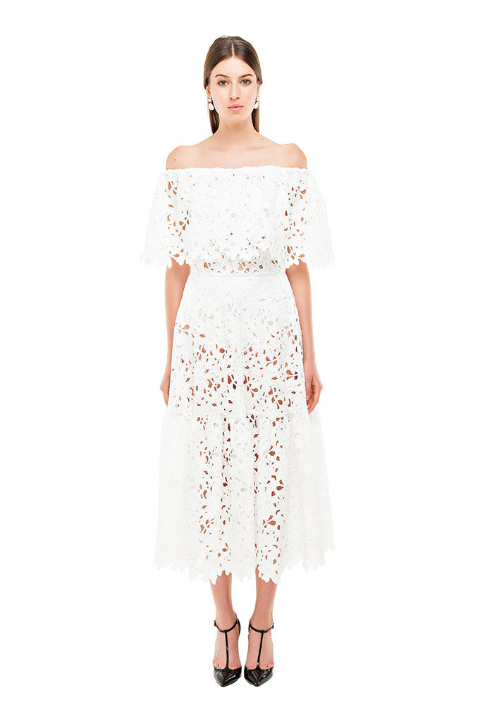 f544bf2d05e4 White Lace Off Shoulder Dress – Bambah