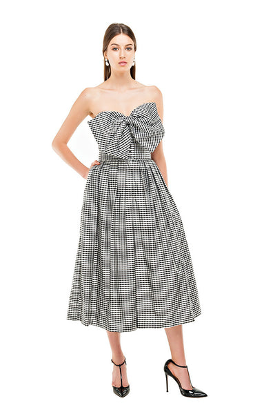 Gingham Pleated Midi Culottes
