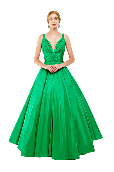 Green Kelly Backless Bow Gown