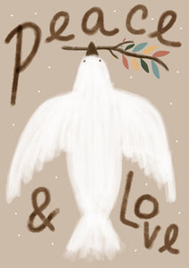 Peace and love print by Wildlings interiors