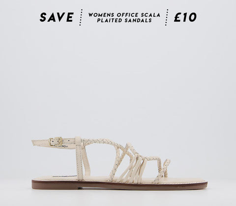 Office Scala Plaited Leather Sandals