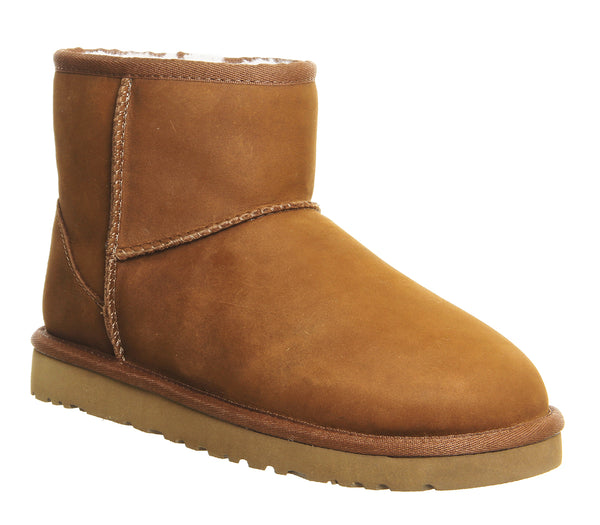 Womens Ugg Classic Mini Chestnut Leather