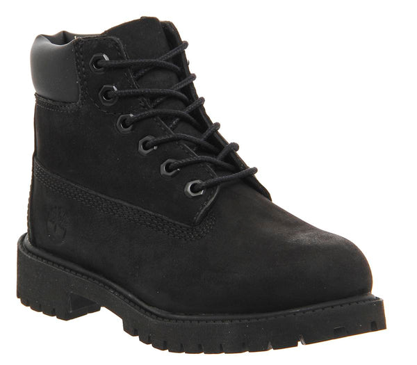 Kids Timberland 6 Inch Classic Boot Youth Black Mono