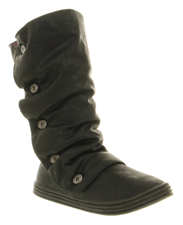 Womens Blowfish Rammish Tall Boot Shearling Black Austin