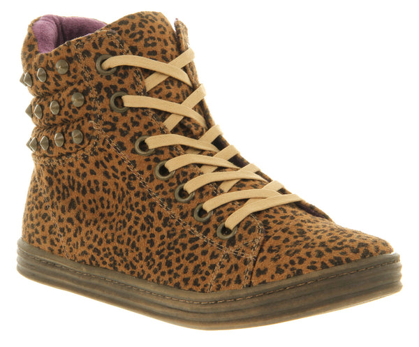 Womens Blowfish Razor Ankle Sneaker Cheetah Canvas