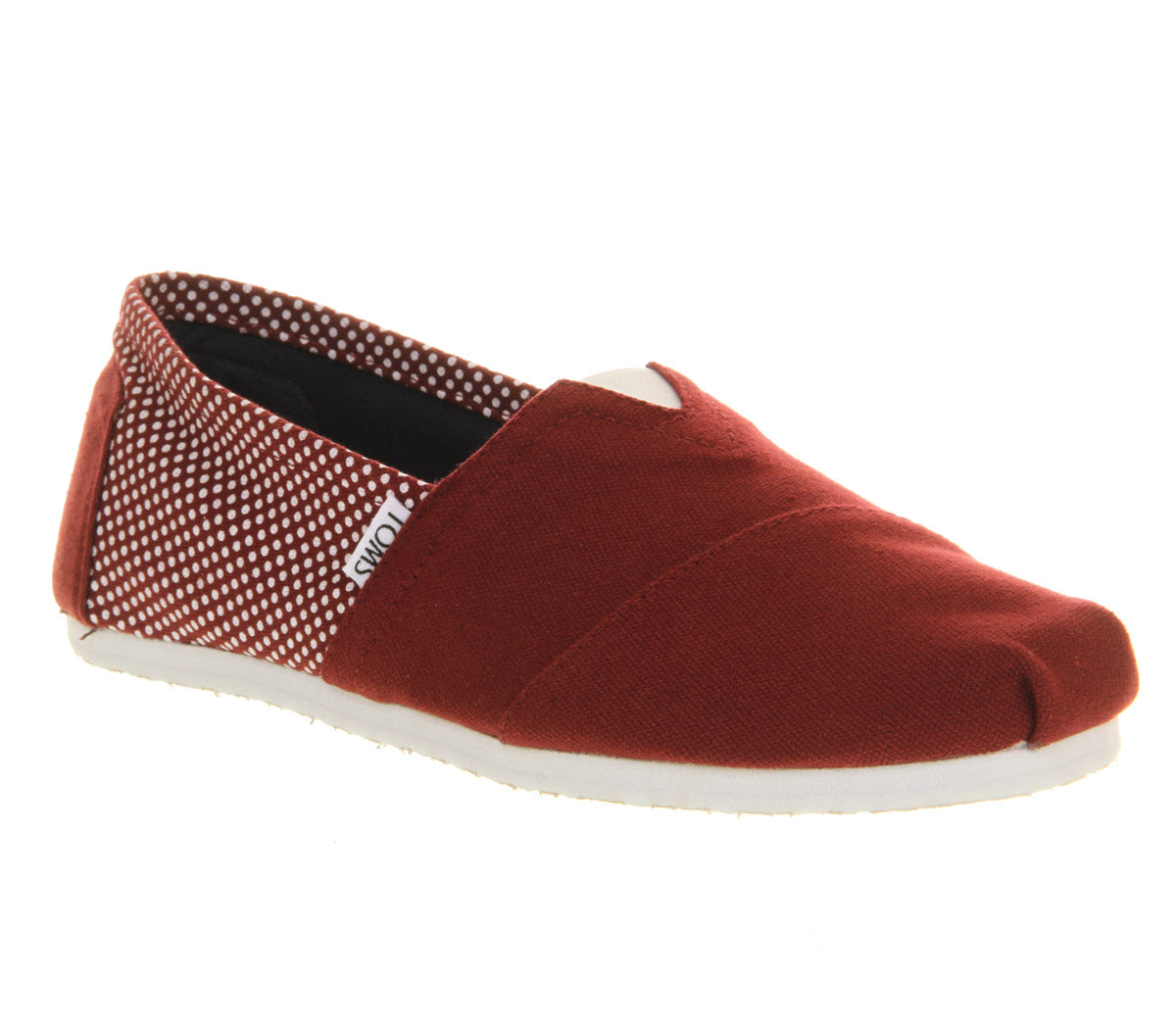 Mens Toms Classic  Bordo Canvas Dot