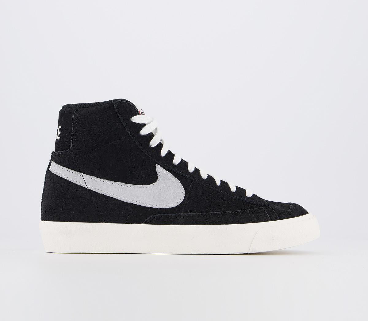 Womens Nike Blazer Mid 77 Black Pure Platinum Sail