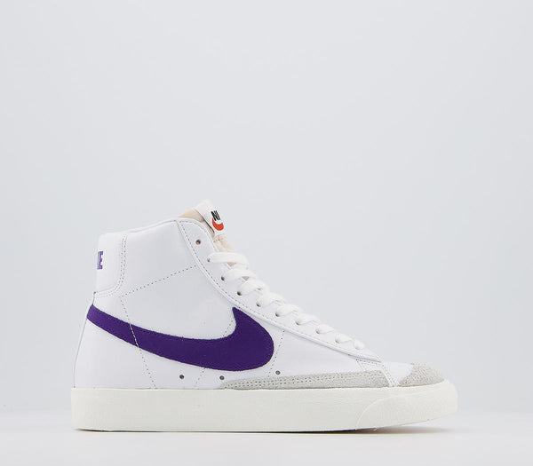 Womens Adidas Blazer Mid 77 White Voltage Purple Sail F