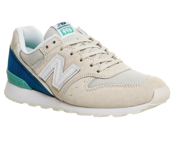 Womens New Balance Wr996 Cream Teal White