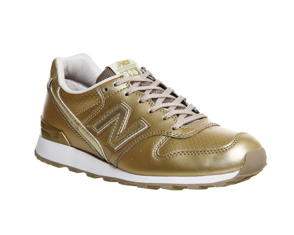 Womens New Balance Wr996 Gold Mono