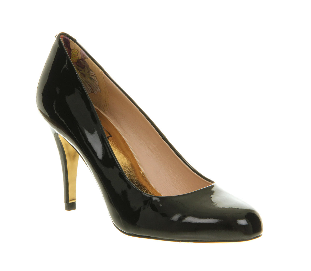 Womens Ted Baker Marae High Heel Court Shoe Black Patent
