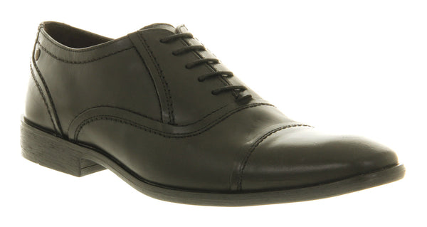 Mens Base Sage Toecap Waxy Black Leather