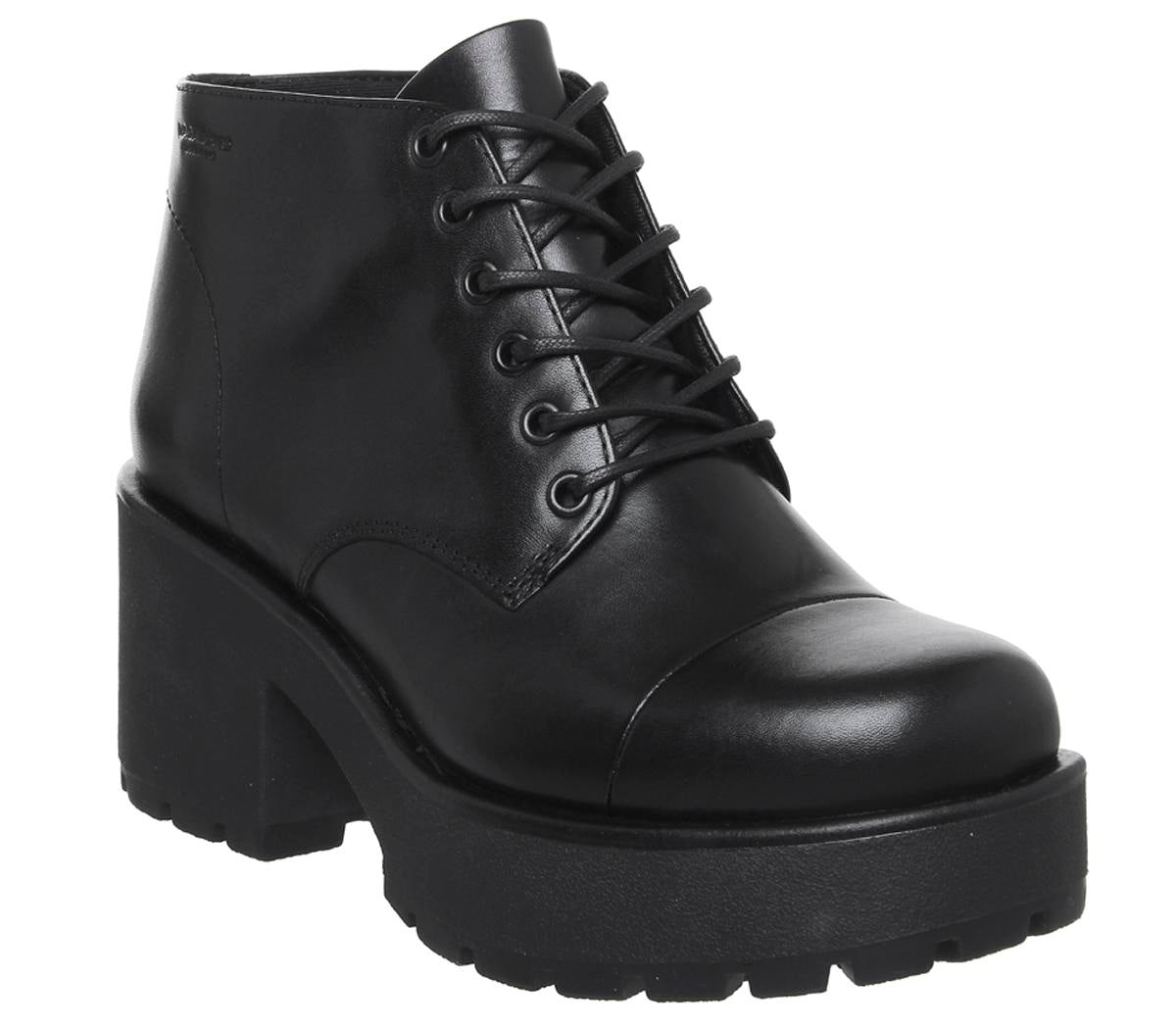 Womens Vagabond Dioon Lace Up Boot Black Leather New