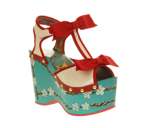 Womens Irregular Choice Alaska Wegde Blue