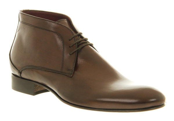 Mens Office Christiano Chukka Boot Choc Leather