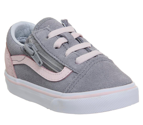 d9c8d1db4d Kids Vans Old Skool (T) Alloy Heavenly Pink White Uk Size 6 Infant