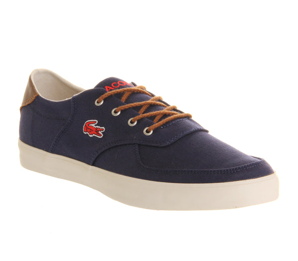 Mens Lacoste Glendon Dark Blue Canvas