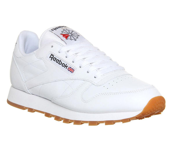 Mens Reebok Cl Leather White Gum