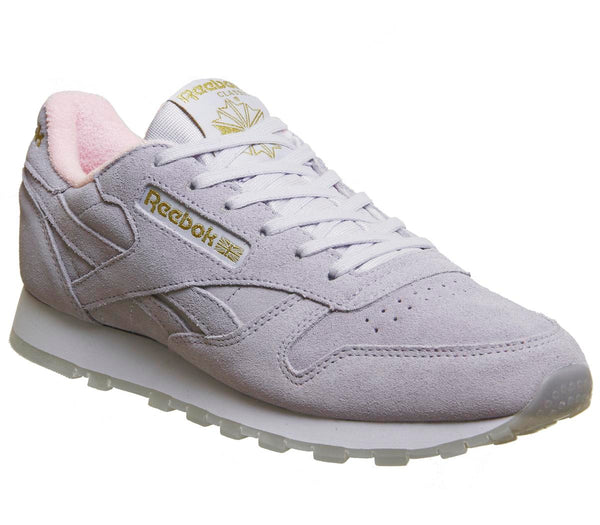 Womens Reebok Cl Leather Lucid Lilac Pink Uk Size 5