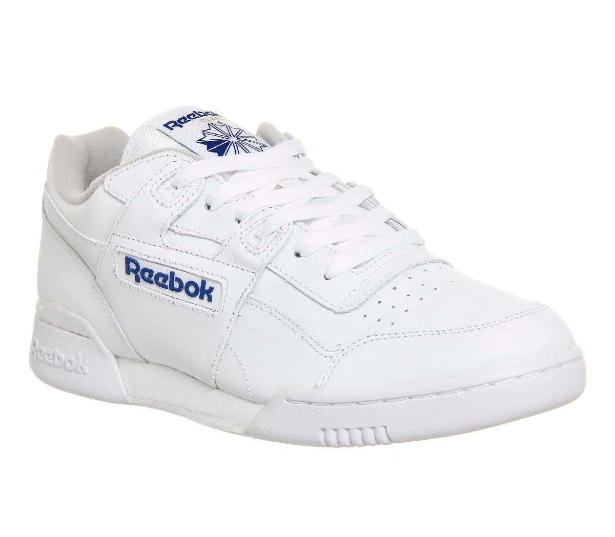 Mens Reebok Workout Plus White Royal