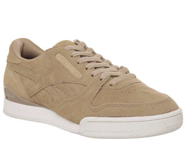 Mens Reebok Phase 1 Pro Clean Sahara White