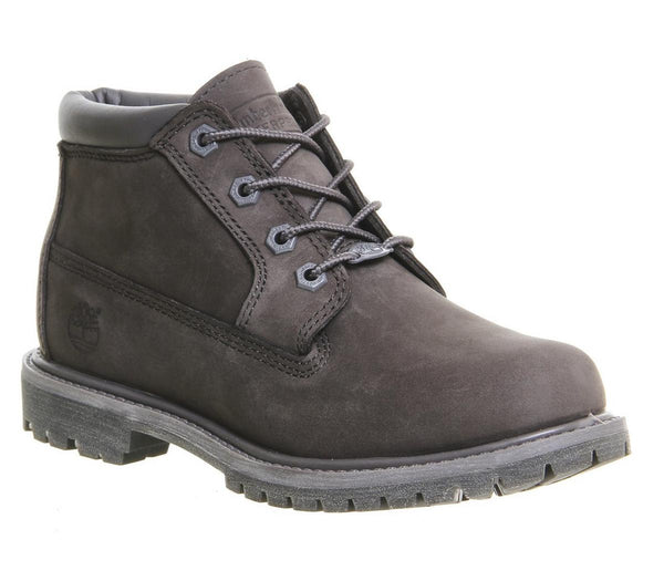 Womens Timberland Nellie Chukka Double Waterproof Boot Dark Grey Nubuck