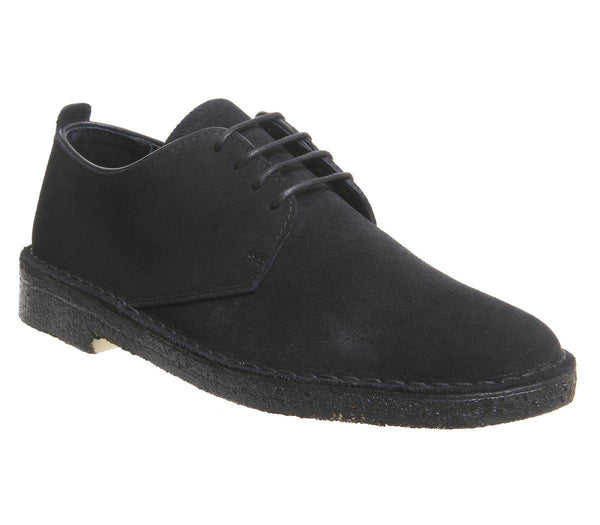 Mens Clarks Desert London Black Suede New