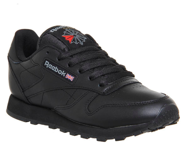 Womens Reebok Classic Leather (W) Black Leather