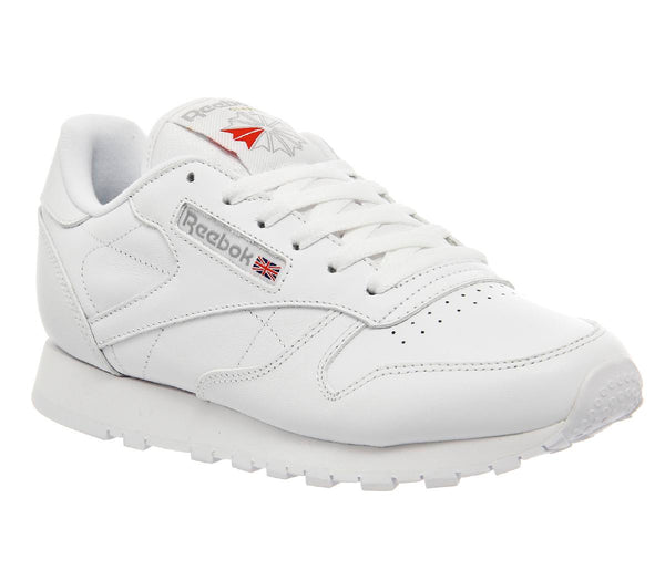Womens Reebok Classic Leather (W) White Leather