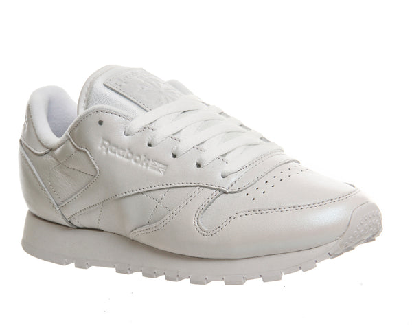 Womens Reebok Classic Leather (W) White Pearlised Trainers UK Size 7