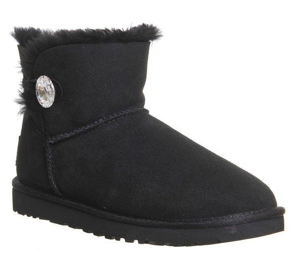 Womens Ugg Mini Bailey Bling Black