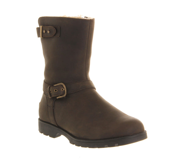 Womens Ugg Grandle Biker Boot Brown  Ankle Boots   UK Size  5.5
