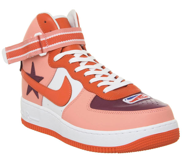 Mens Nike Air Force 1 Hi Rt Sunblush Bordeaux Orange Black