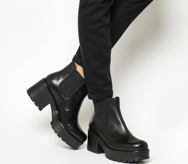 Womens Vagabond Dioon Elastic Chelsea Boot Black Leather Uk Size 8