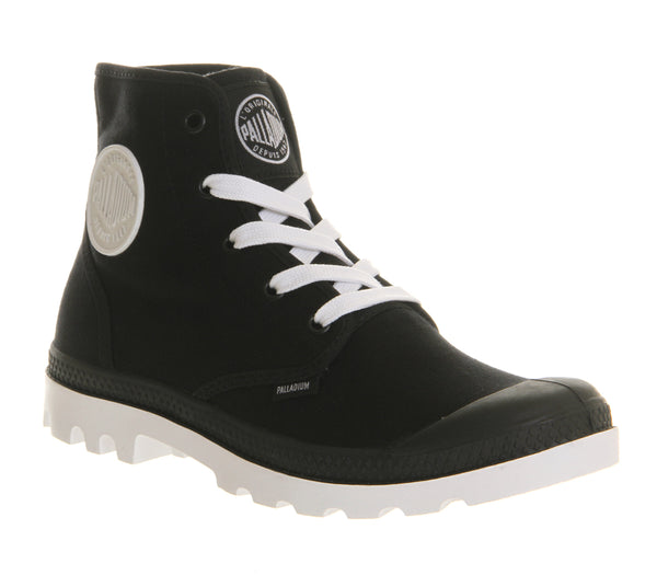 Womens Office Blanc Hi Black White Canvas