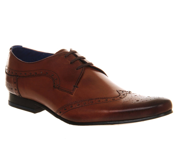 Mens Ted Baker Hann Brogue Lace Tan Leather